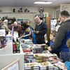 Patrons peruse comic books at Comic Heaven on Free Comic Book Day. (Tawana Roberts/The News-Herald)