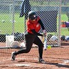 Paul DiCicco - The News-Herald<br /> - Mentor Senior, Gianna Sluga, connecting on a single in the second inning.