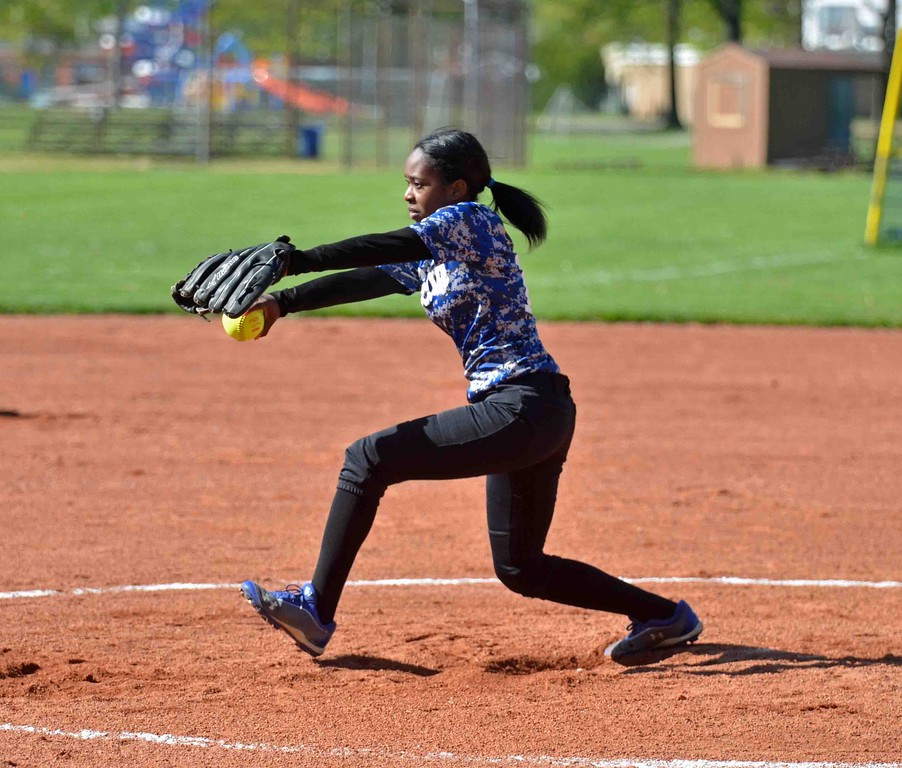 . Paul DiCicco - The News-Herald Euclid\'s pitcher, Jalyn Bachelor winding up against Mentor on May 8.