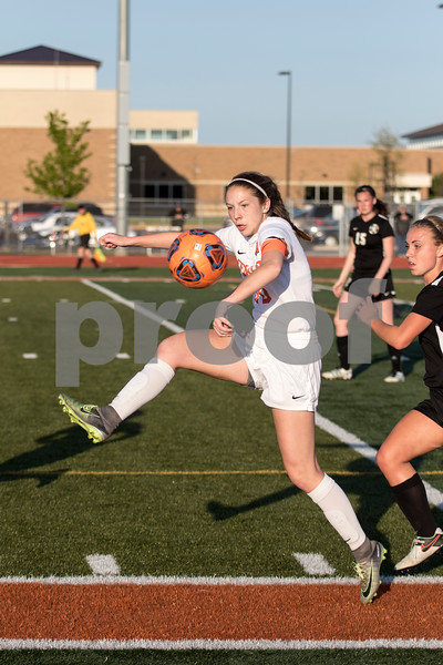 Sam Buckner for Shaw Media.<br /> Hanna Hickey stops the ball on Thursday May 11, 2017 against Kaneland.