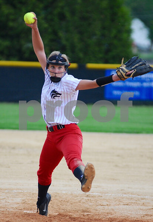 Indian Creek pitcher Jesika Lowe delivers during regional action against Paw Paw on Monday,<br /> May 14 in Shabbona.  Steve Bittinger - For Shaw Media