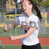 Olivia Olson heads the ball during regional soccer action in DeKalb on Tuesday.  Steve Bittinger - For Shaw Media