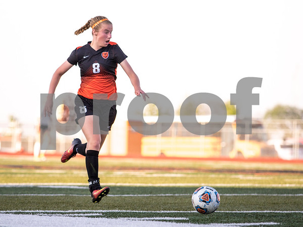 Sam Buckner for Shaw Media.<br /> Darian Lucas dribbles the ball down the field on Tuesday May 16, 2017 against Wheaton Warrenville South. Barbs won 2-1.