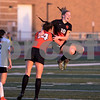 Sam Buckner for Shaw Media.<br /> Hanna Hickey jumps and hugs Bella Betner after Betner scored a goal in the second half against Wheaton Warrenville South on Tuesday May 16, 2017.