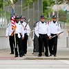 Jonathan Tressler — The News-Herald <br> A honor guard from the Mansfield Correctional Institution waits to cross E. 9 Street along Lakeside Avenue in Cleveland as it makes its way to the parade step-off point May 19 during the 32nd Annual Greater Cleveland Peace Officers Memorial Parade and Memorial Service.