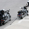 Jonathan Tressler — The News-Herald <br> Cleveland Police Department motor officers shine up their rides prior to the commencement of the 32nd Annual Greater Cleveland Peace Officers Memorial Parade and Memorial Service in Downtown Cleveland May 19.