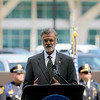 Jonathan Tressler — The News-Herald <br> Cleveland Mayor Frank Jackson speaks during the Greater Cleveland Peace Officers Memorial Parade and Memorial Service in Downtown Cleveland May 19.