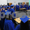 Hinckley-Big Rock High School graduates gather in the school library before commencement ceremonies on Sunday.<br /> Steve Bittinger - For Shaw Media