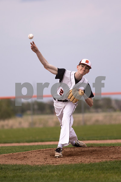 Sam Buckner for Shaw Media.<br /> Ian Panke pitches at the start of the game on Monday May 22, 2017 against Rockford Jefferson.