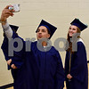 Hiawatha High School graduate Justin Thompson takes a selfie with Cassidy Sterling before commencement ceremonies on Friday in Kirkland.<br /> Steve Bittinger - For Shaw Media
