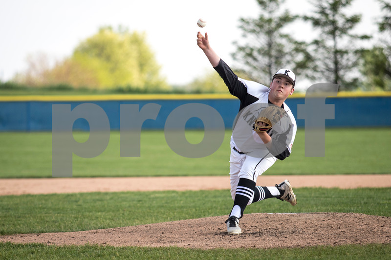 Sam Buckner for Shaw Media.<br /> Reece Sowell pitches  in the second inning of the regional game against Fenton on Thursday May 25, 2017.