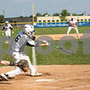 Sam Buckner for Shaw Media.<br /> Zachary Farris punches a ball over the second basemans head during the Burlington Central Regional game on Thursday May 25, 2017 against Fenton.