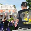 Veteran Tom Harris of Kingston attends the DeKalb Memorial Day program at the Ellwood House Museum on Monday, May 28.  Steve Bittinger - For Shaw Media