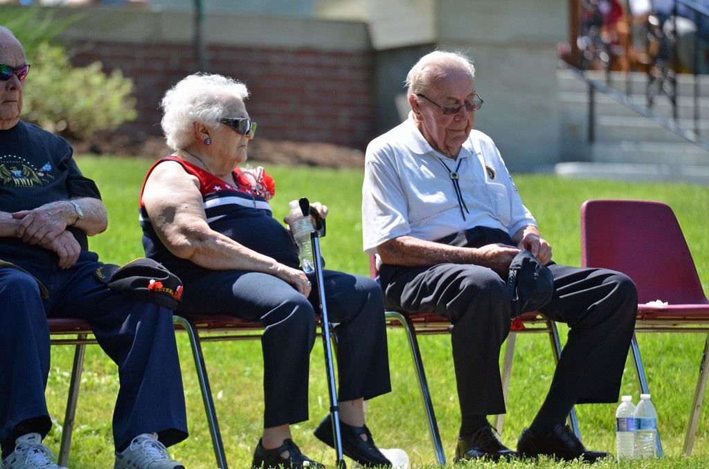 . Paul DiCicco - The News-Herald <br> Wickliffe WWII Veteran, Ralph Hillier (93 yrs old) along-side his wife Dolly, of 71 years.  Mr. Hillier has taken part in the Memorial Day Parade and ceremony for the past 72 years and his wife Dolly has been involved in the parade the past 38 year\'s.