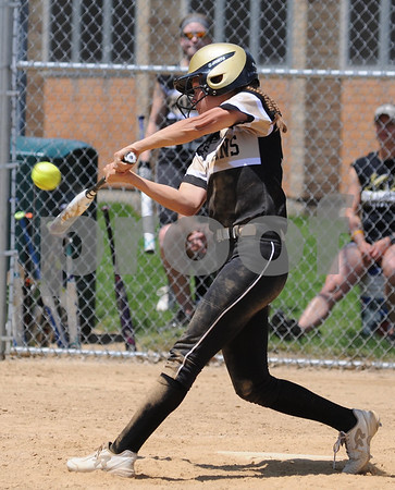 Haley Trela of Sycamore makes contact during regional championship action at Rosary in Aurora on Saturday, May 26.  Steve Bittinger - For Shaw Media