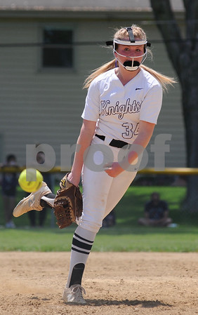 Emilee Erickson delivers a pitch for Kaneland during regional action on Saturday, May 26 in Aurora.  Steve Bittinger - For Shaw Media