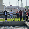 Eric Bonzar—The Morning Journal<br> As part of their environmental science studies, a group of Lorain High School scholars had the opportunity to tour the city's waste water treatment plant,  under the guidance of plant assistant superintendent Tim Cox, May 29, 2018.