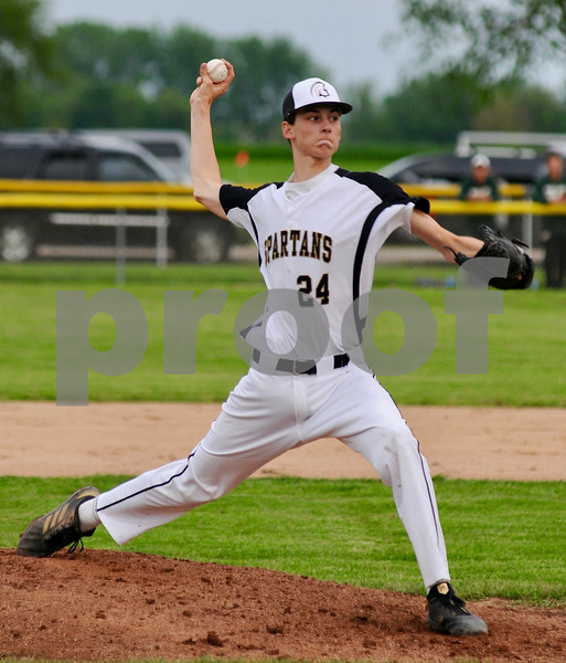 Sycamore pitcher Matthew Reuscher delivers during sectional action on Wednesday.  Steve Bittinger - For Shaw Media