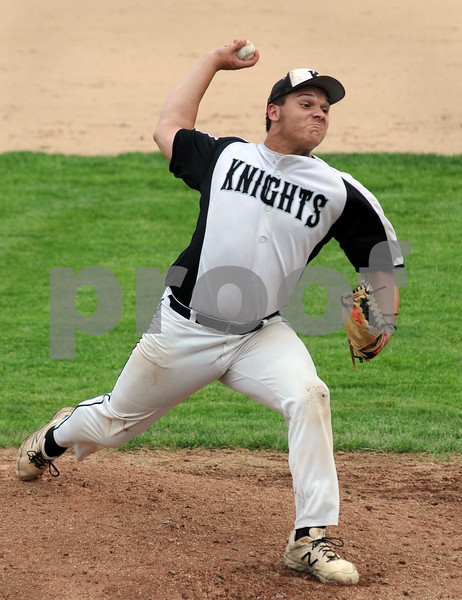 Kaneland pitcher Nik Panico delivers in sectional play against Dixon on Wednesday.  Steve Bittinger - For Shaw Media