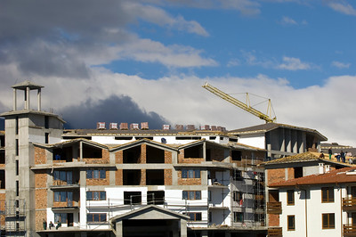 Constructing new apartments and houses, Bansko, The Pirin Mountains,Bulgaria