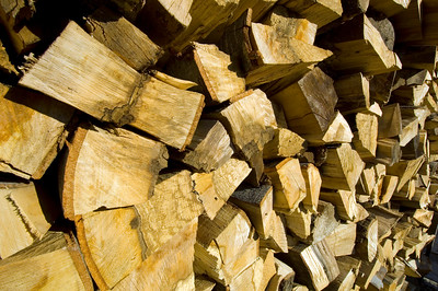Wood stockpiled for winter, The Pirin Mountains,Bulgaria