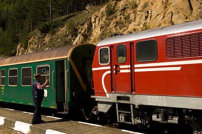 Narrow-guage train Bansko to Septemvri, The Pirin Mountains,Bulgaria