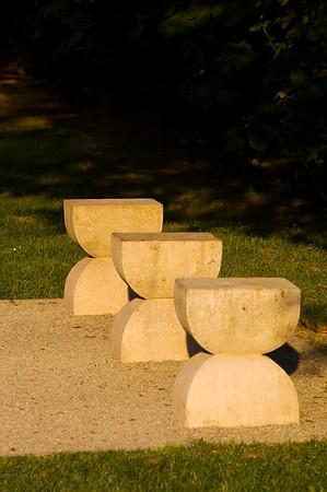 """"""" Avenue of Seats """" by Contantin Brancusi, Targu Jiu, Wallachia, Romania"""