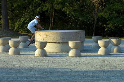 """"""" Table of Silence """" by Constantin Brancusi, Targu Jiu, Wallachia, Romania"""
