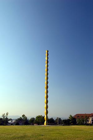 """ Endless Column "" by Constantin Brancusi, Targu Jiu, Wallachia, Romania"