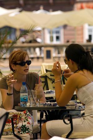 Cafe-bar on Piata Unirii, Timisoara, The Banat, Romania