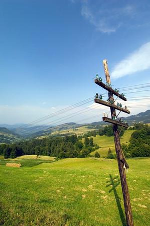 View towards Rodna Mountains, Maramures, Romania