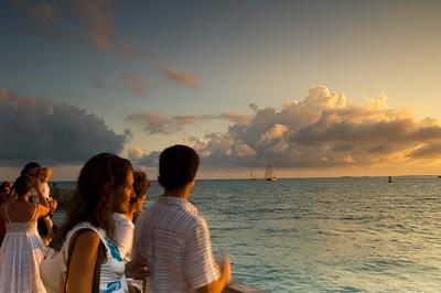 people watch sunset , Key West, Florida Keys, Florida, United States of America