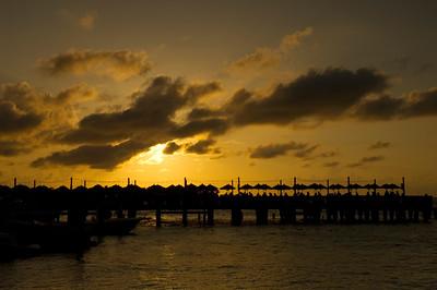 Waterfront at sunset, Key West, Florida Keys, Florida, United States of America