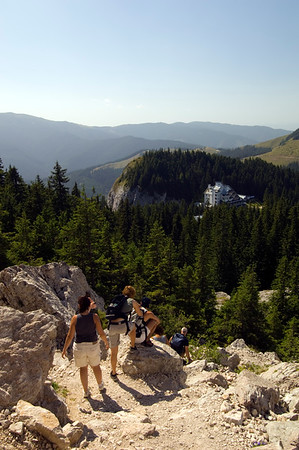Hiking in Rarau Massif, Moldavia, Romania
