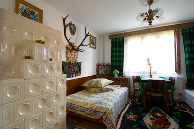 Homestay, country house interior, Sucevita , Moldavia, Romania