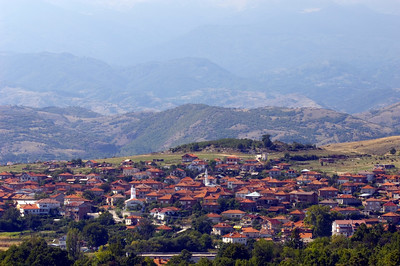 Village and Pirin Mountains, Bulgaria