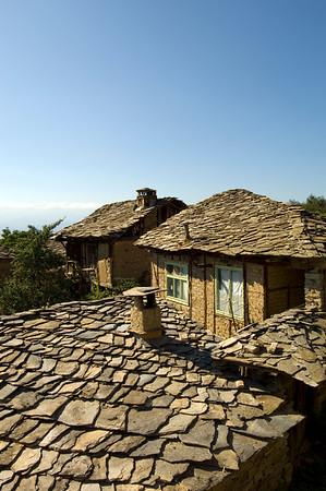 Slated roof, Leshten village, Rhodope Mountains, Bulgaria