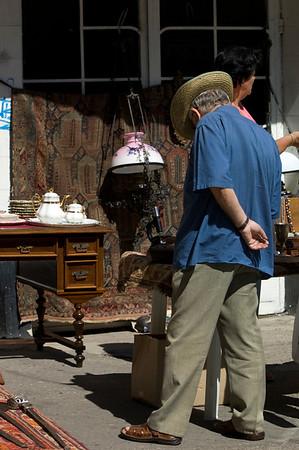 Antique and flea market on Lapusneanu Street, Iasi, Moldavia, Romania