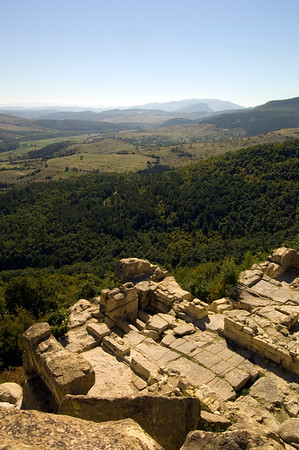 Ancient site of Perperikon overlooking The Rhodope Mountains, , Bulgaria