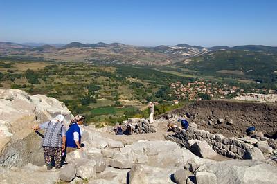 Excavation work taking place at Perperikon, Bulgaria
