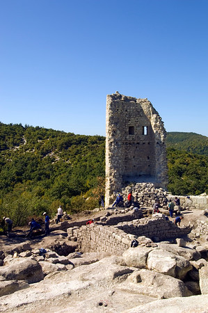 Medieval tower on Acropolis, Perperikon, Bulgaria