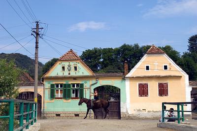 Boy on a horse, Malancrav, ( Saxon town ), Transylvania, Romania