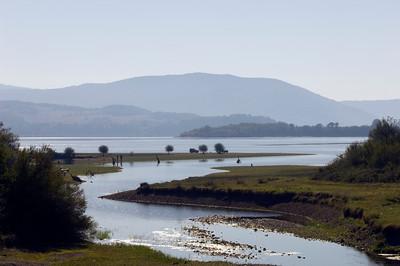Arda river passing through Madzharovo nature reserve, Bulgaria