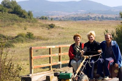 Farmers on the way home, Rural transport near Madzharovo, Bulgaria