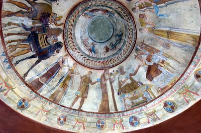 Frescoes inside the Thracian Thomb, Kazanluk,  Bulgaria