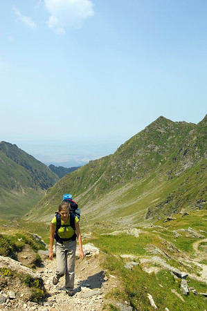 Hiking in Fagaras Mountains, Transylvania, Romania
