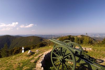 Cannons at Freedom Monument by Shipka Pass, Stara Planina Mountains, Bulgaria