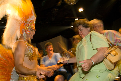 Drug Queens show in a bar on Duval Street, Key West, Florida Keys, Florida, United States of America