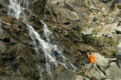 Waterfall, Fagaras Mountains, Transylvania, Romania