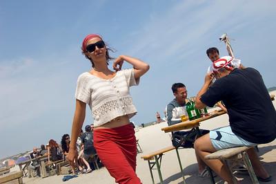 Beach bar at Vama Veche, Black Sea coast, The Dobrogea, Romania